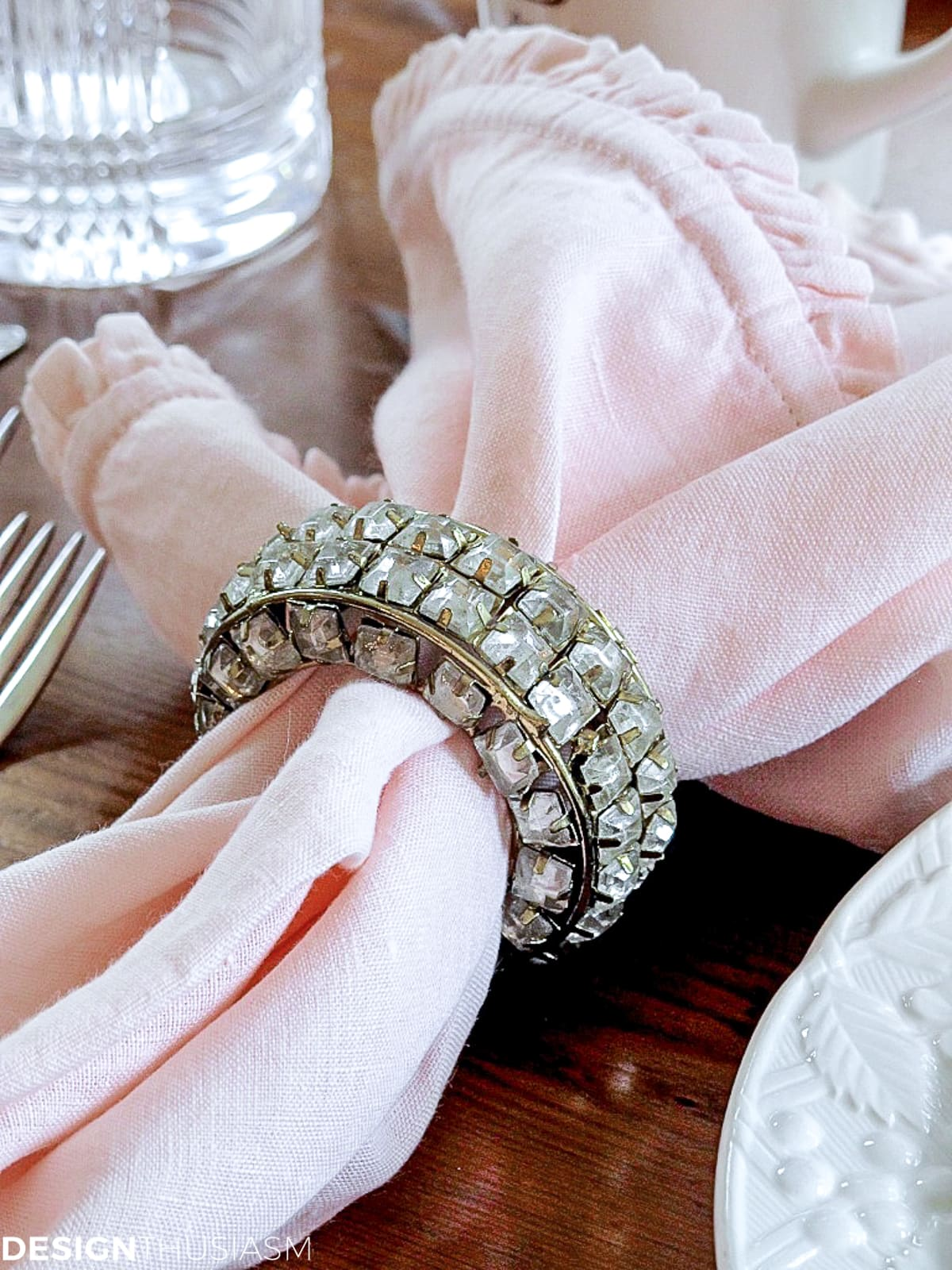 napkin and ring for table setting for lunch
