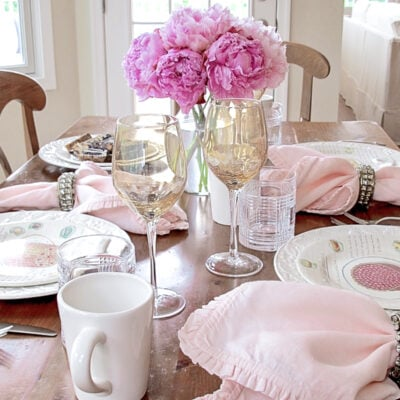10 Tabletop Tips: Simple but Lovely Table Setting for Lunch