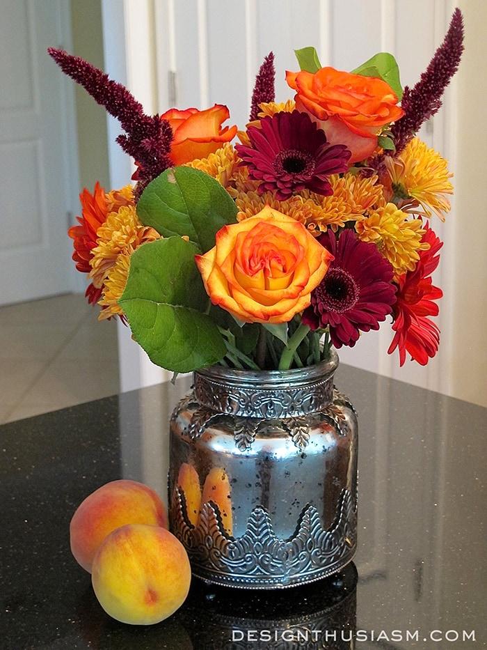 Fall floral arrangement / Designthusiasm.com
