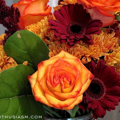 A Medley of Fall Floral Arrangements