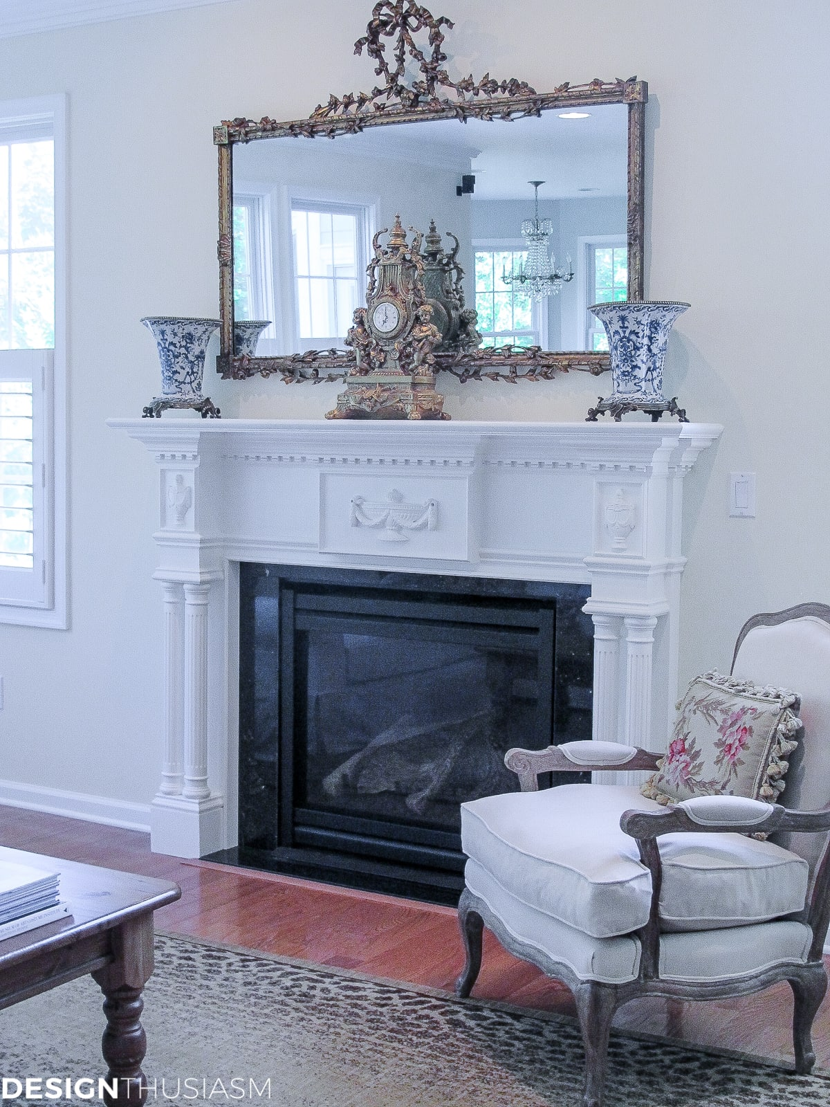 family room mantel