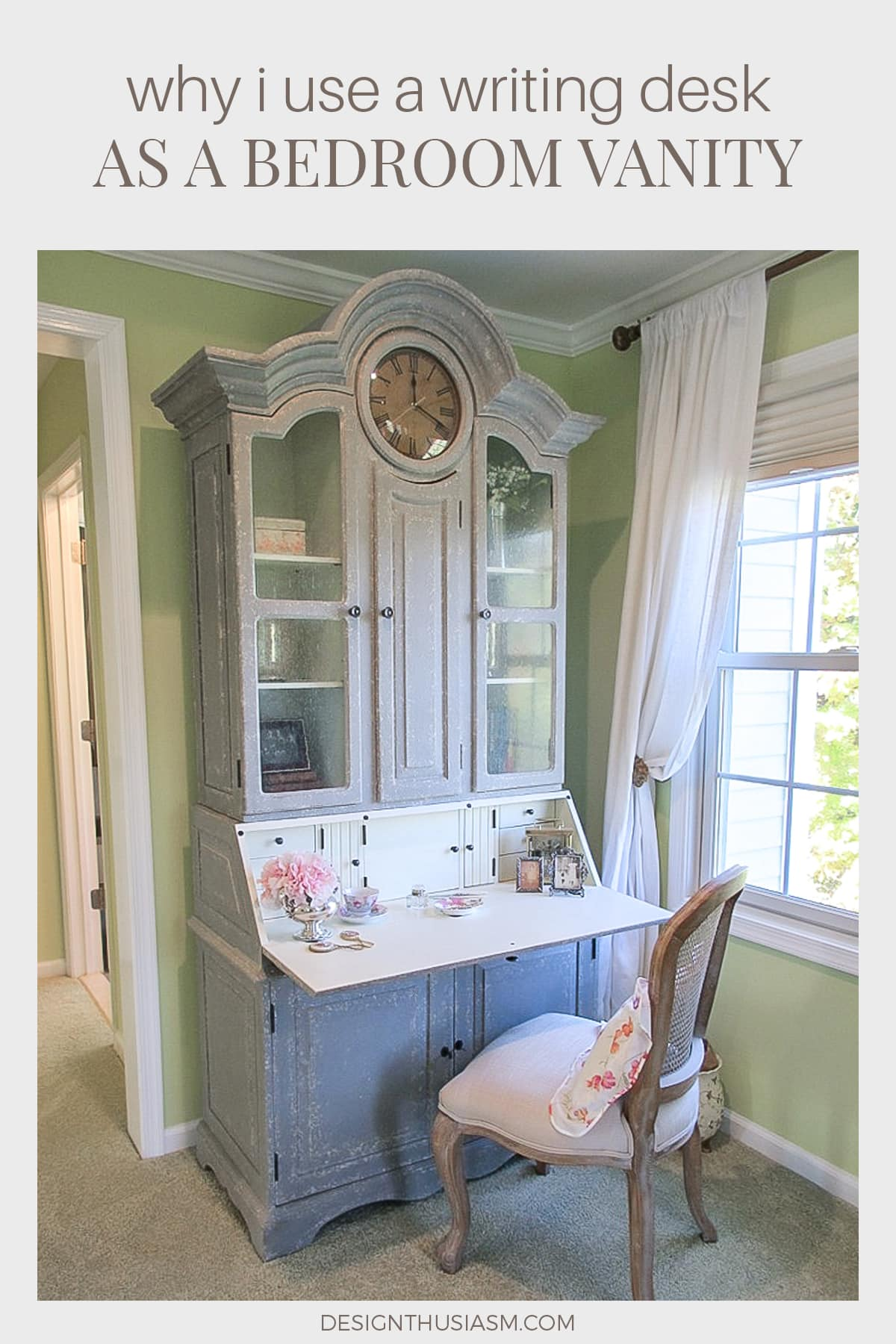 Dressing Table Ideas Why I Use A Writing Desk As A Bedroom Vanity