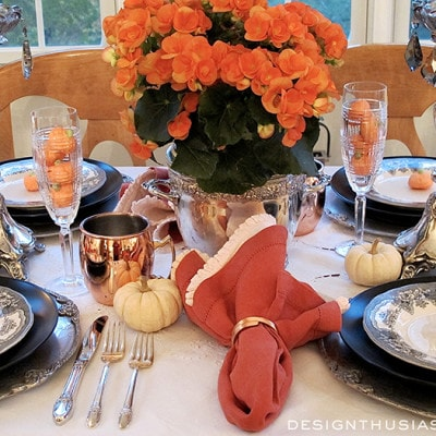 Color & Class – A Halloween Table Setting
