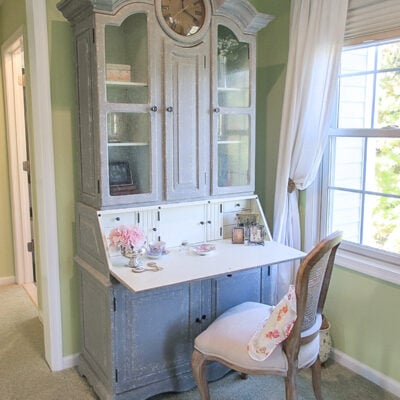 Dressing Table Ideas: Why I Use a Writing Desk as a Bedroom Vanity