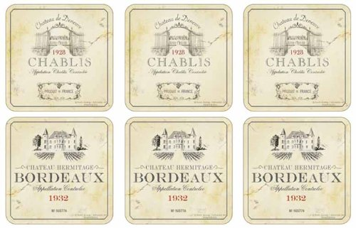 Wine Label Coasters