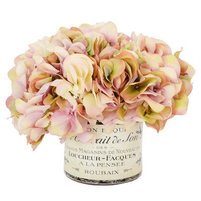 Faux Hydrangea in French Container