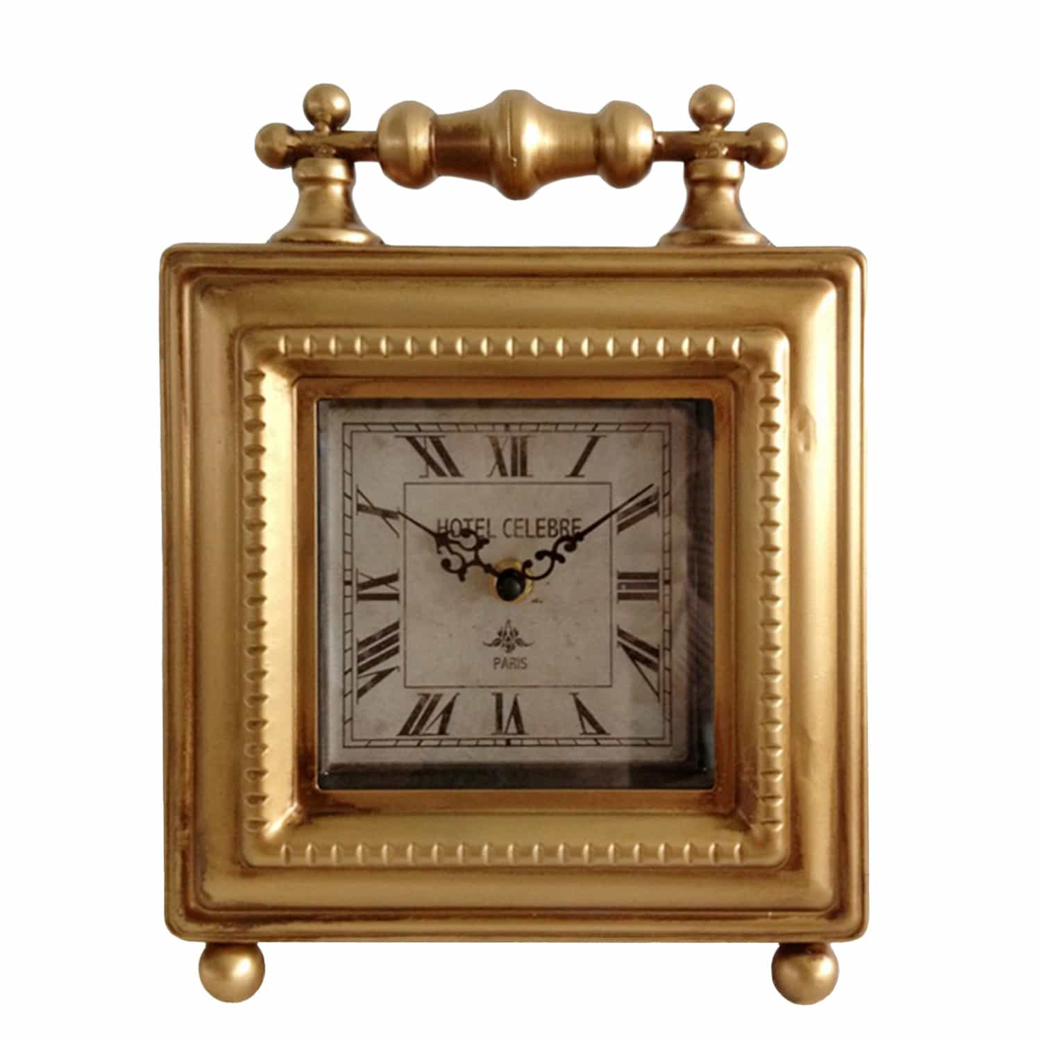 Gold Square Clock