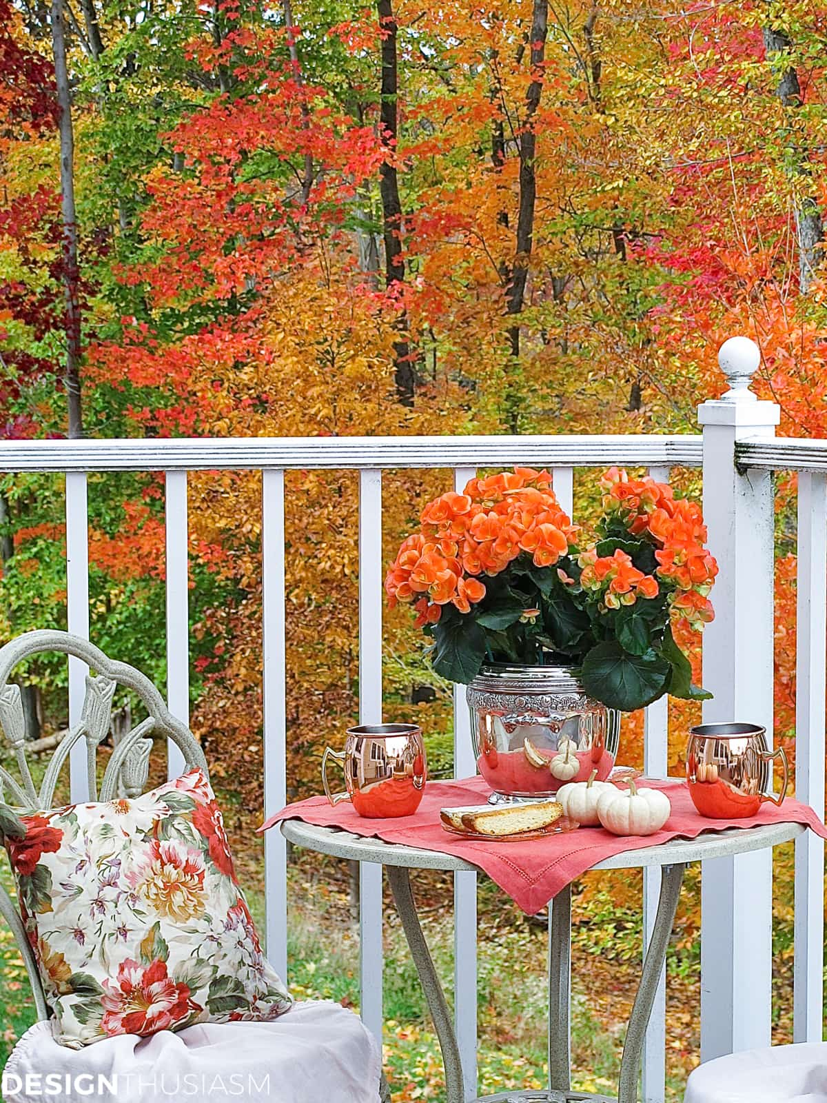 Fall porch outdoor decor