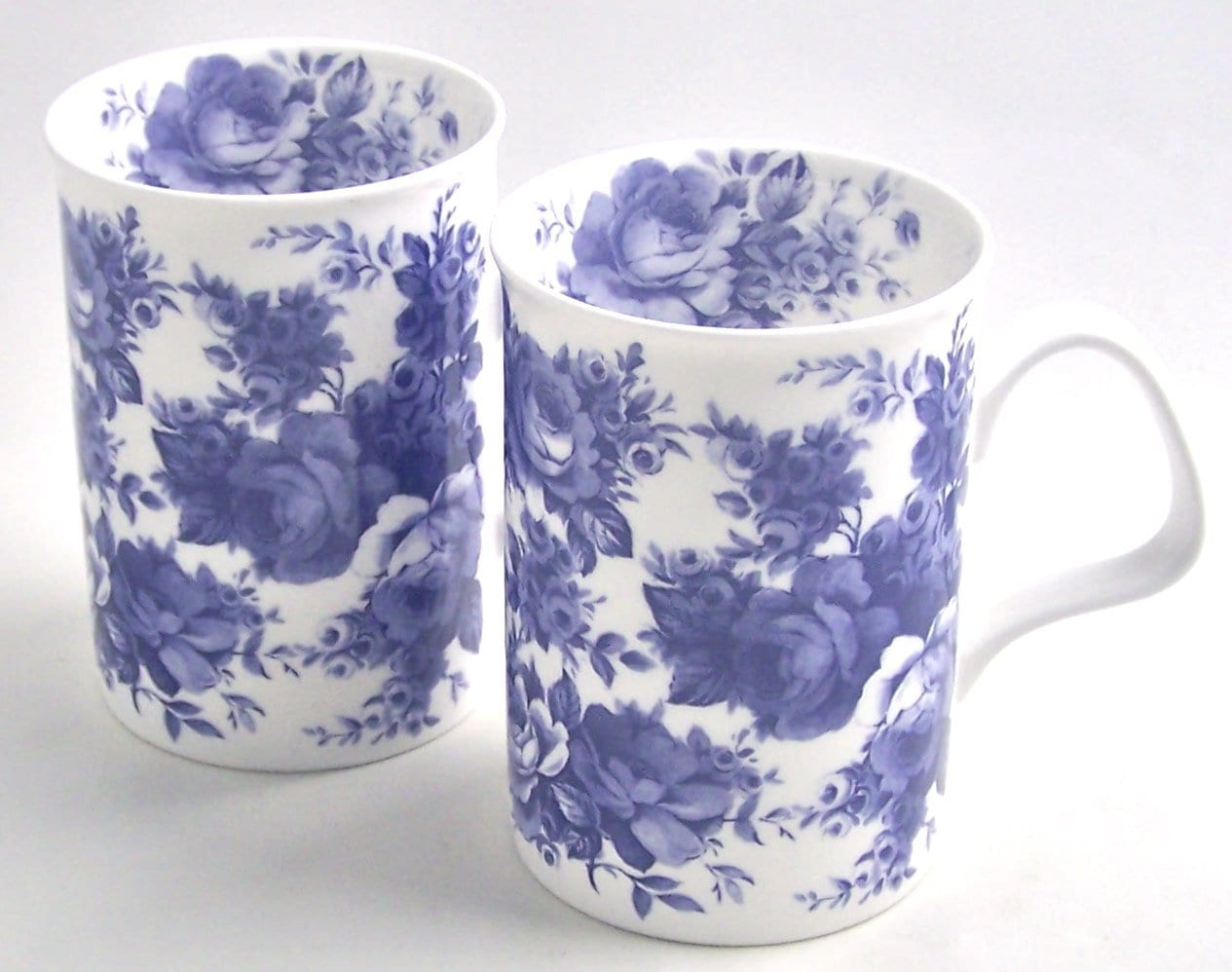 Blue & White Mugs
