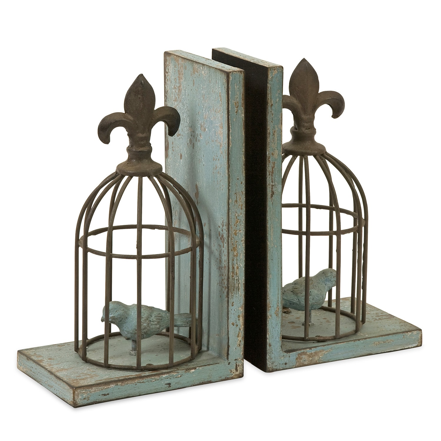 French Birdcage Bookends