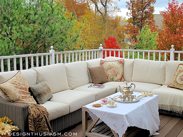 Autumn Charm on a Townhouse Patio