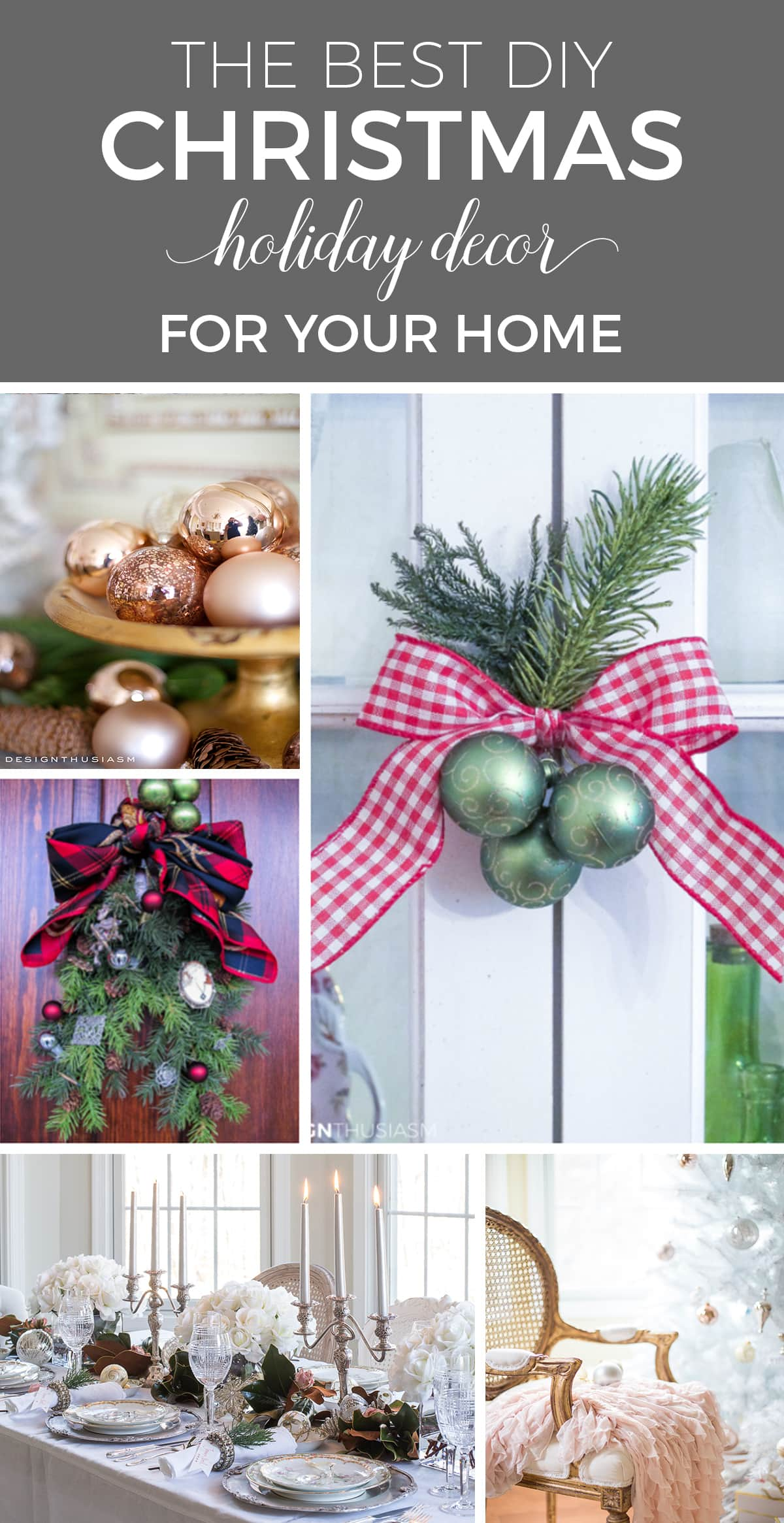 The Best Christmas Decorations, Holiday Decor and More | designthusiasm.com