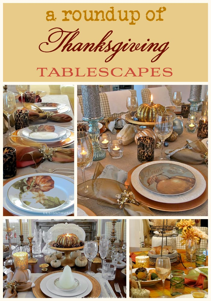 Roundup of Thanksgiving Table Settings