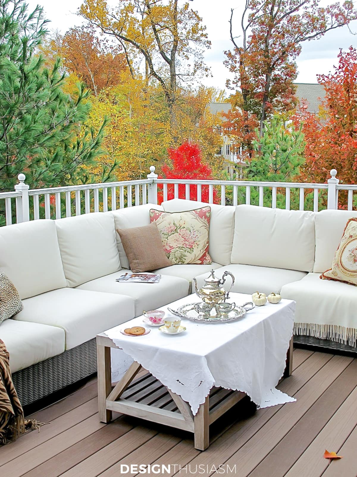 fall patio sectional couch