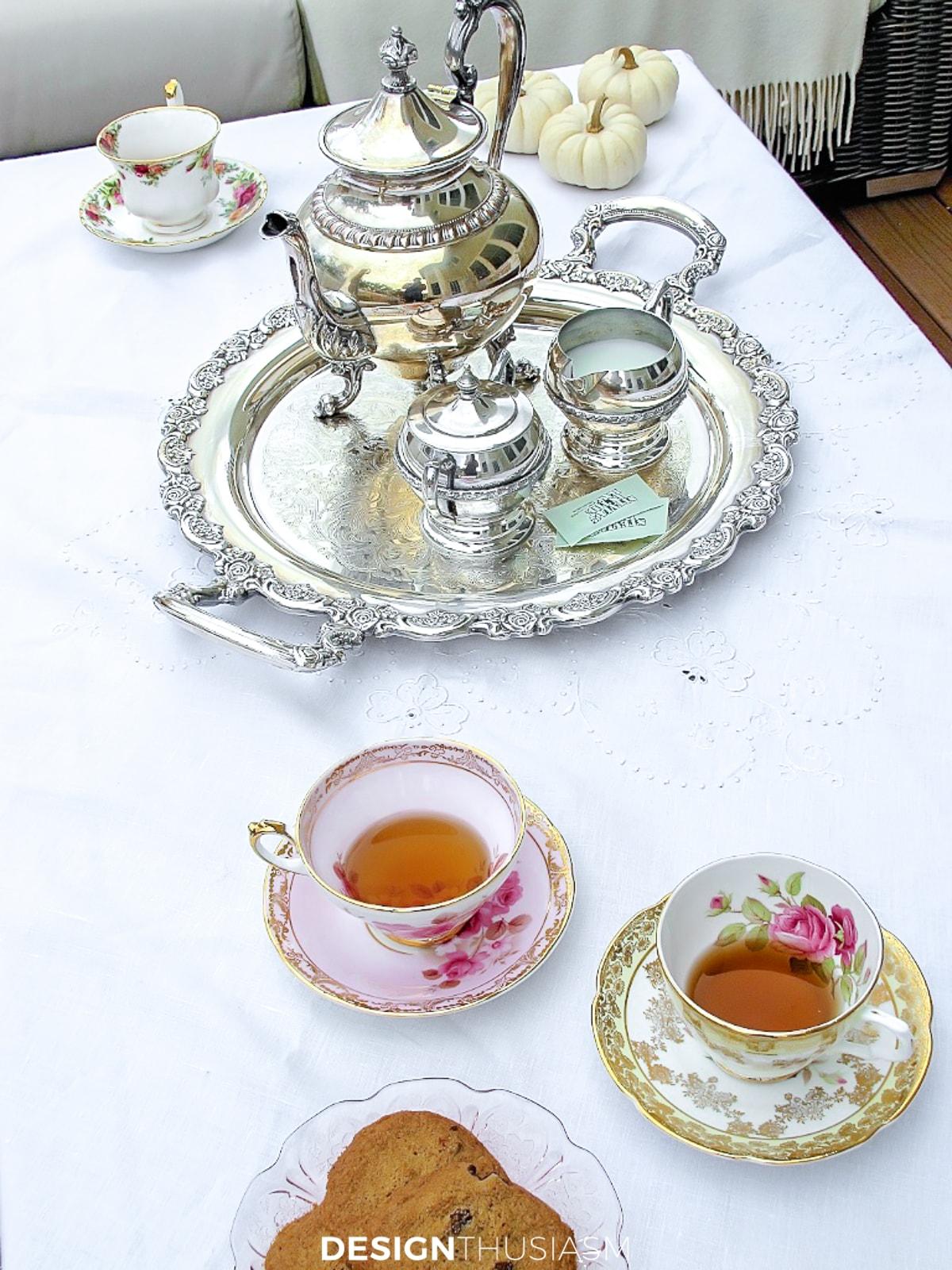 fall patio tea set
