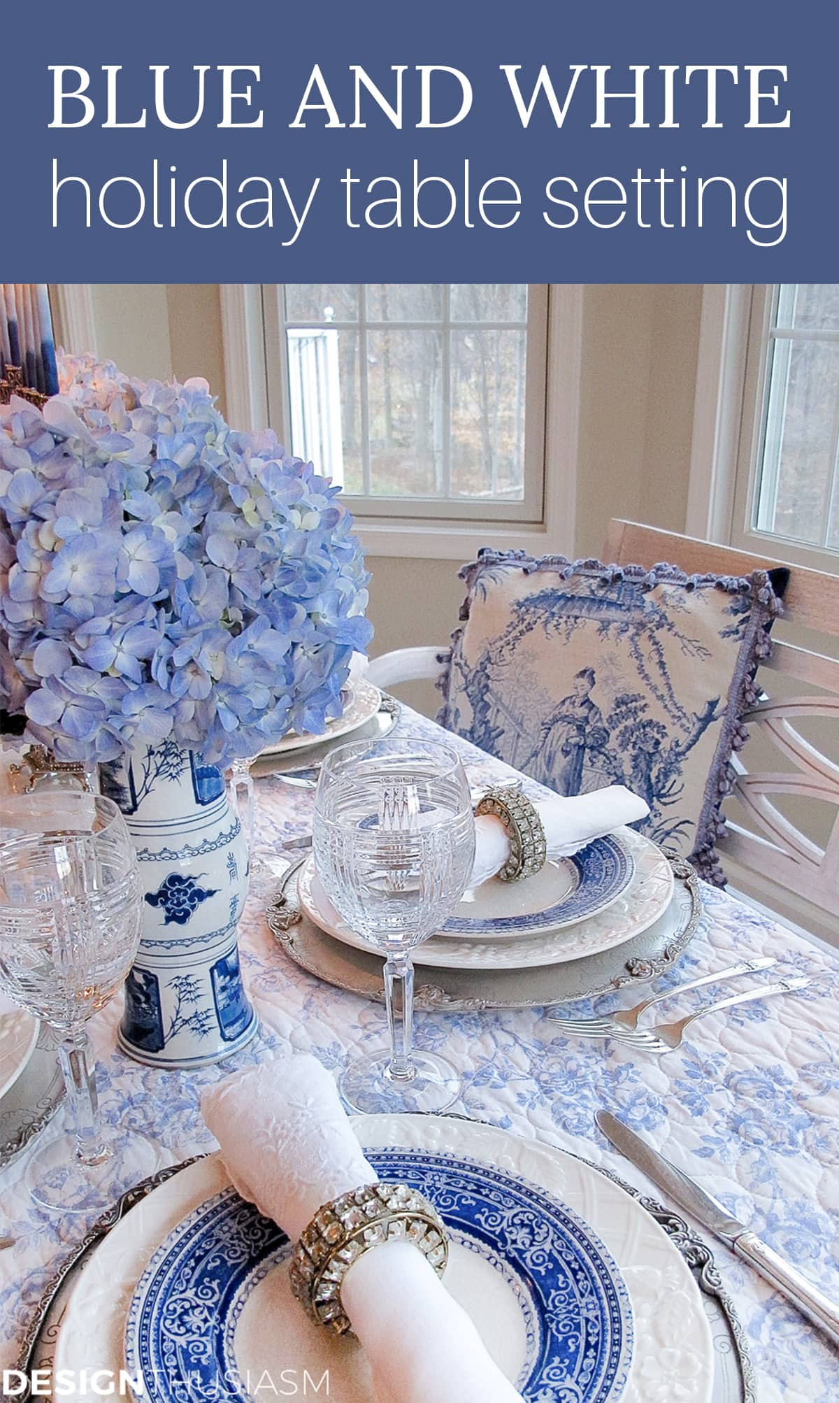 French Toile Table Setting