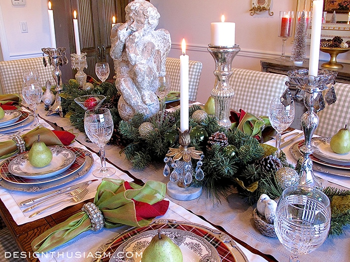 christmas dinner table setting designthusiasmcom