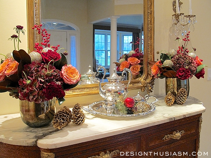 Ease Into Holiday Decorating - Holiday Bar Server - Designthusiasm .com