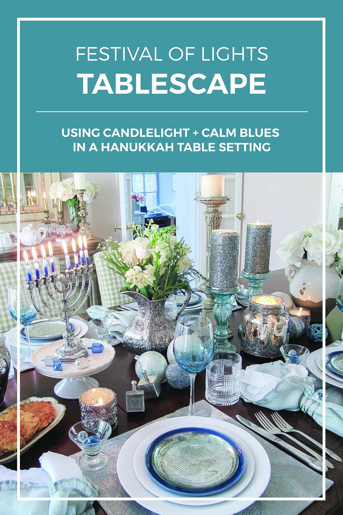 Festival of Lights Hanukkah Table Setting
