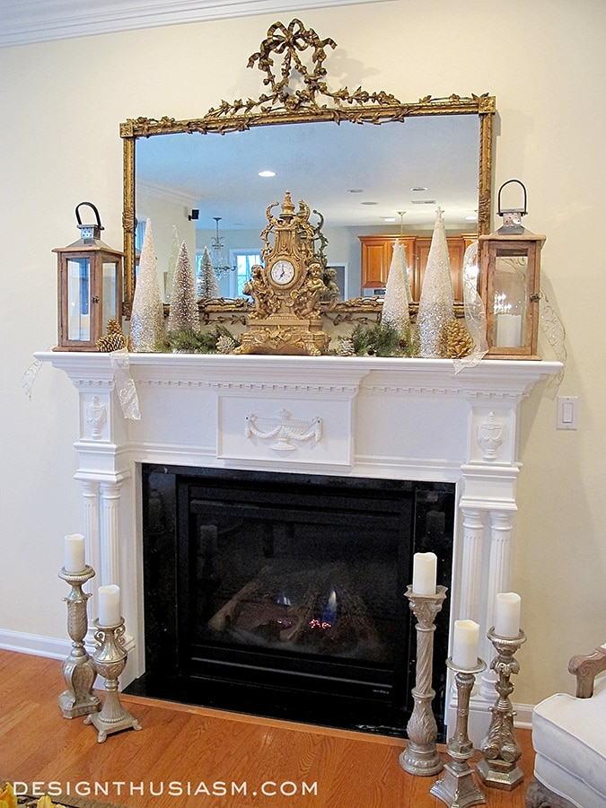Decorating A Holiday Mantel With Casual Elegance - designthusiasm.com