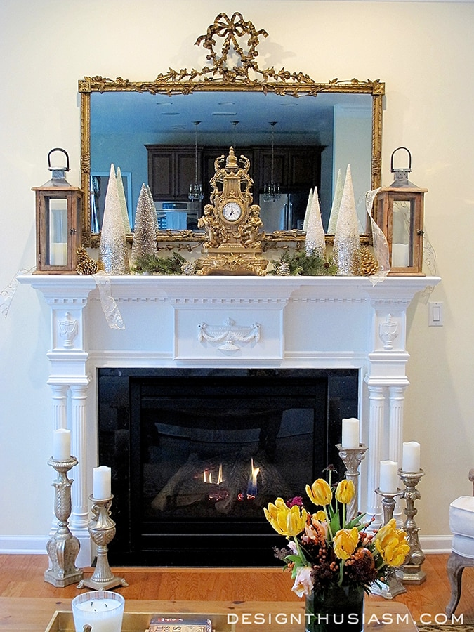 Decorating A Holiday Mantel With Casual Elegance - designthusiasm.com