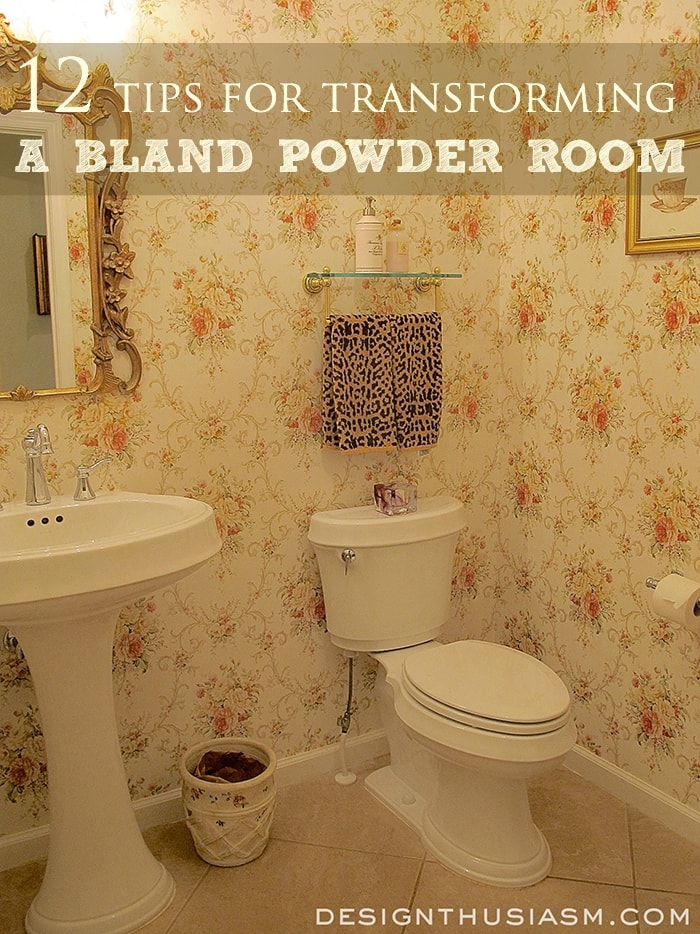 Toile in the Powder Room - Designthusiasm.com