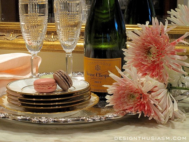Rose Gold New Year's Eve Tabletop - Designthusiasm.com