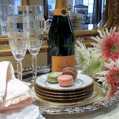 Rose Gold New Year's Eve Table Setting and Shopping Guide