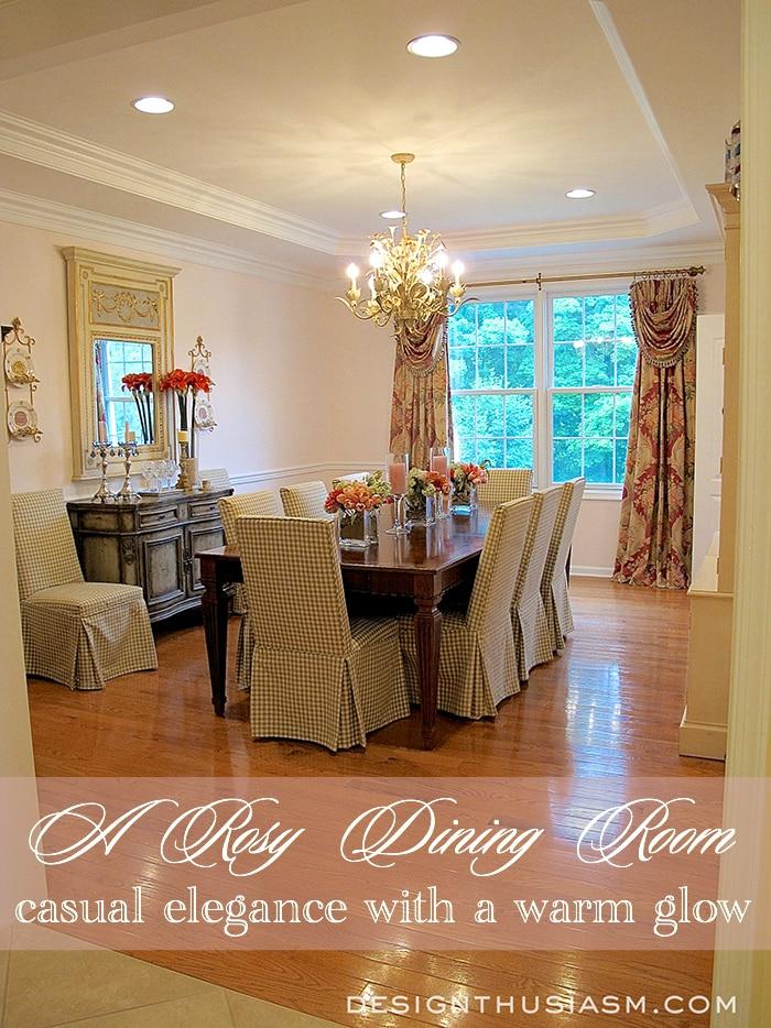 A Rosy Dining Room - Designthusiasm.com