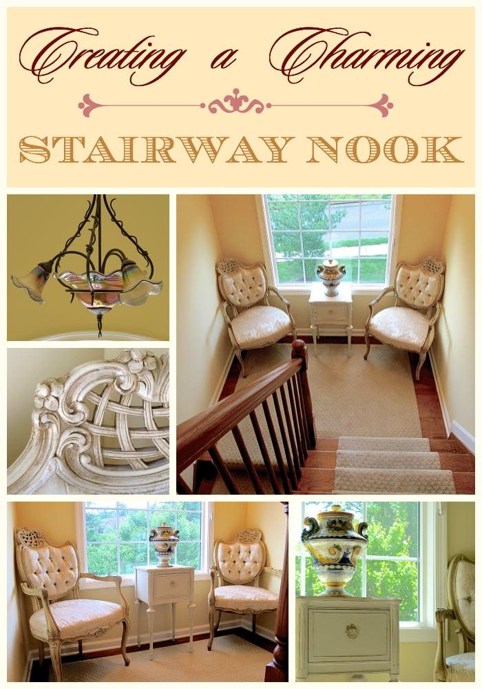 A Charming Stairway Nook - Designthusiasm.com