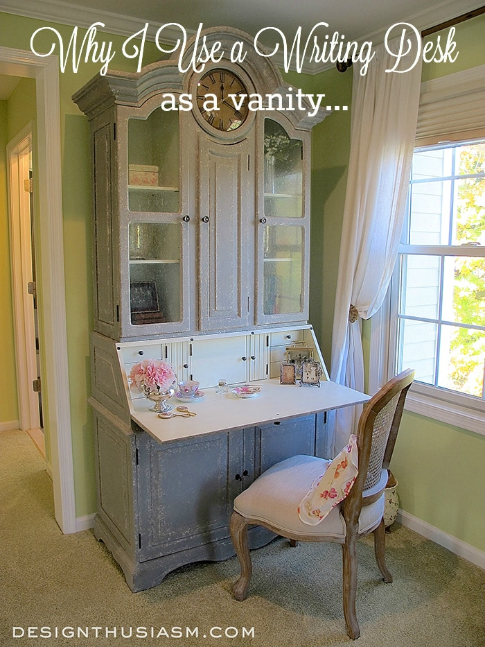 Using a Writing Desk as Vanity - Designthusiasm.com