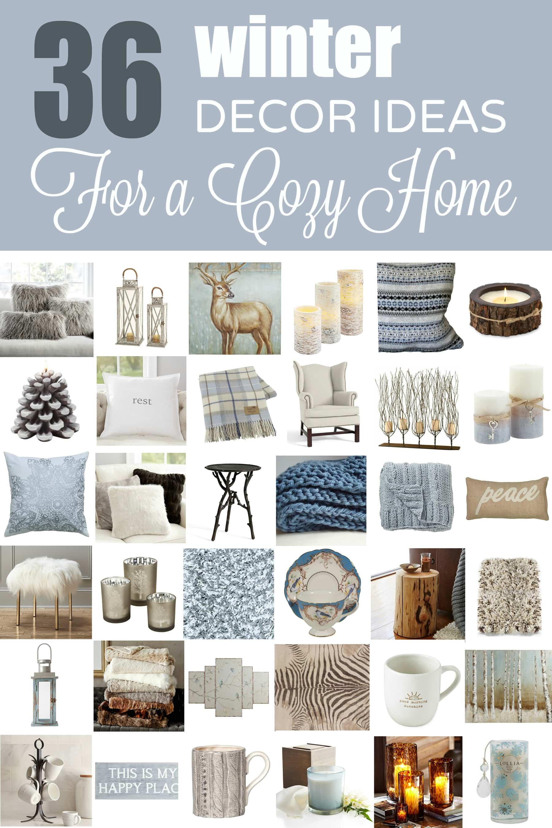 36 Cozy Winter Decor Ideas - Designthusiasm.com