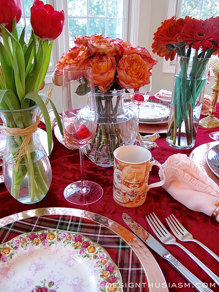 Romantic Red - A Valentine's Day Tablescape - Designthusiasm.com
