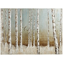 Bird in birch tree art P1