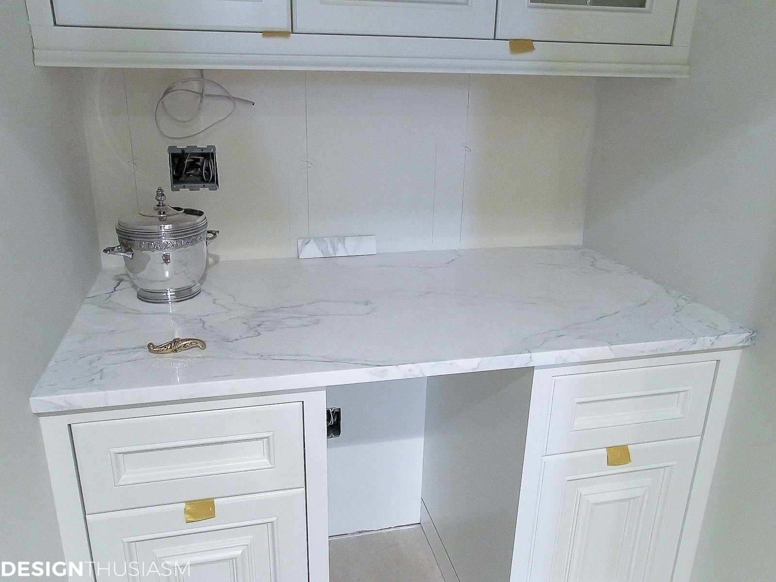 butler's pantry remodel marble countertop