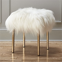 CB2 sheepskin-stool