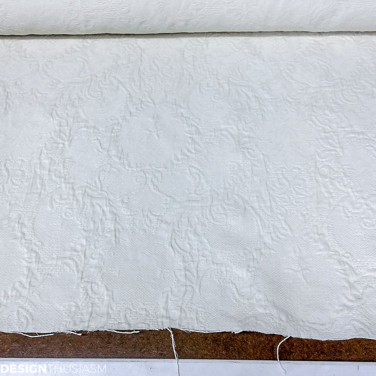 off white jacquard upholstery fabric