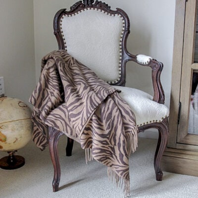 vintage French chair reupholstery