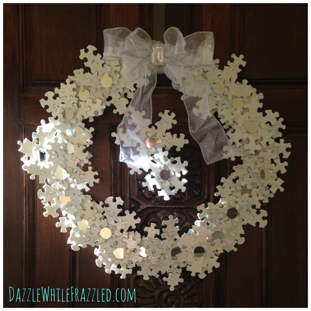 Snowflake Wreath - Link Party Feature - Designthusiasm.com