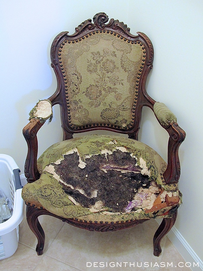 - Transforming A Vintage French Chair