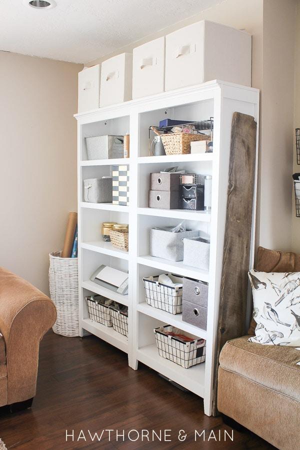 Craft Room Storage - Link Party Feature - Designthusiasm.com