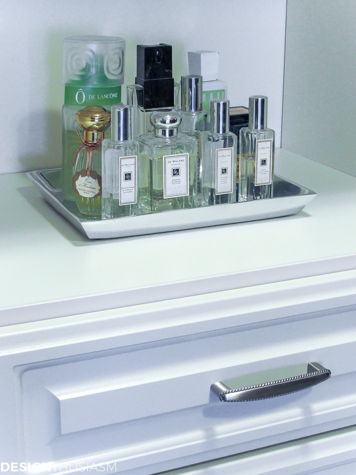 bedroom closet perfume tray