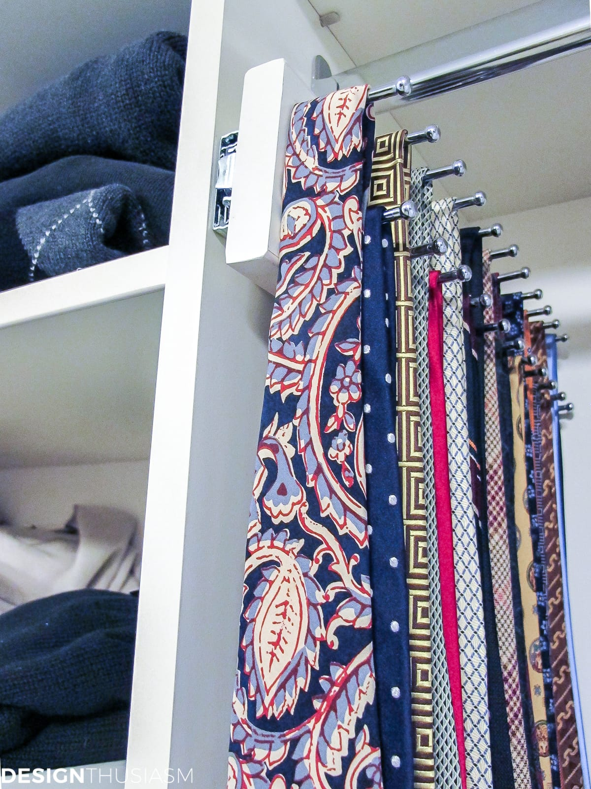 bedroom closet tie racks