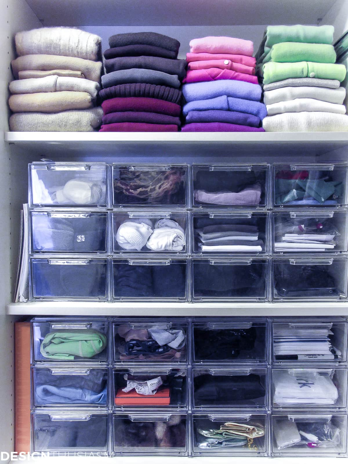 bedroom closet plastic drawer storage