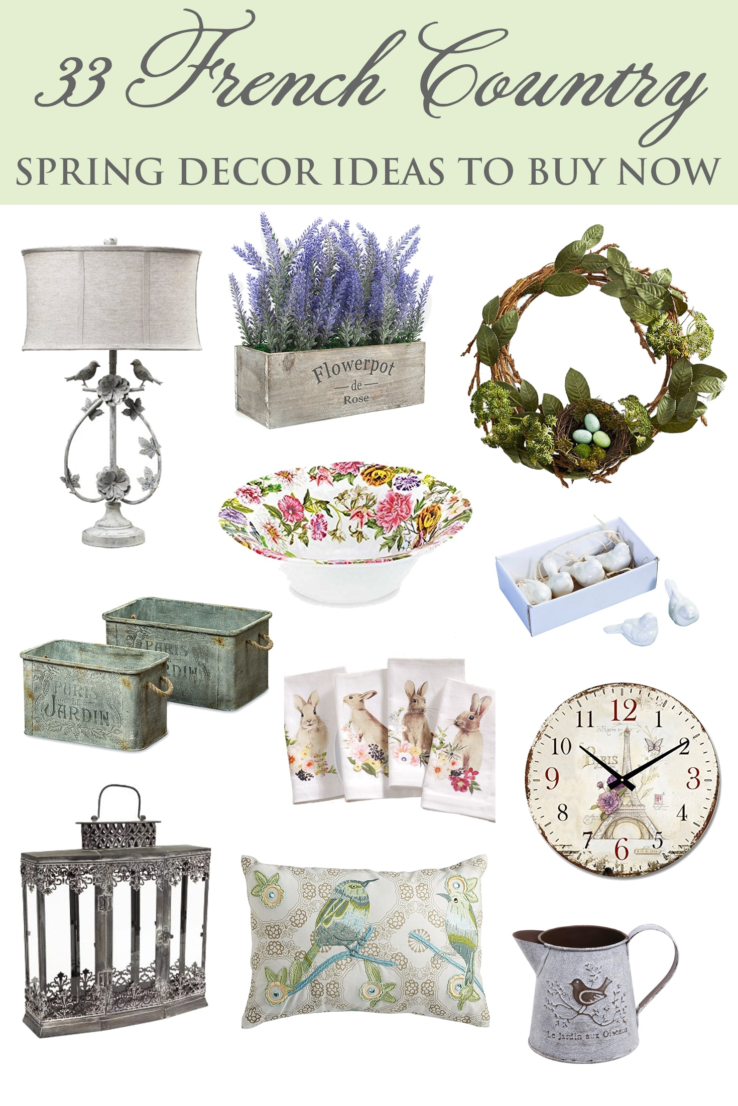 French Country Spring Shopping Guide