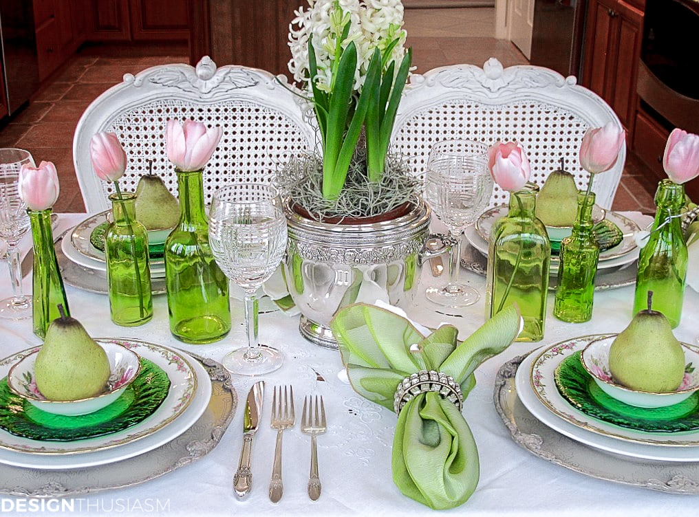St. Patrick's Day spring tablescape