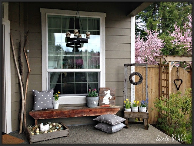 2016 easter porch shared at share it One More Time Link Party