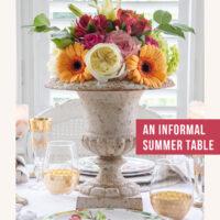 Informal table setting ideas