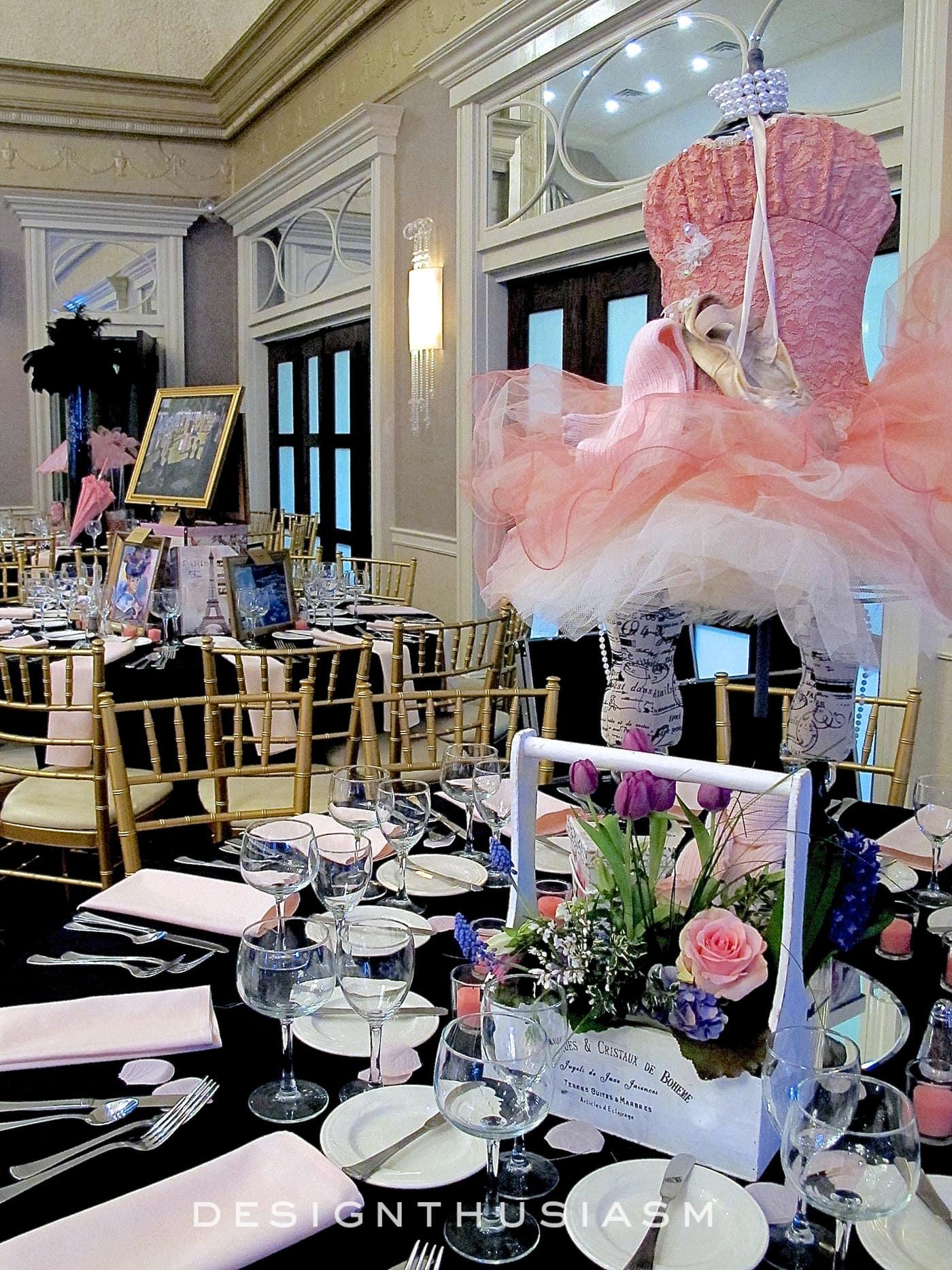April in Paris Centerpieces - Designthusiasm.com