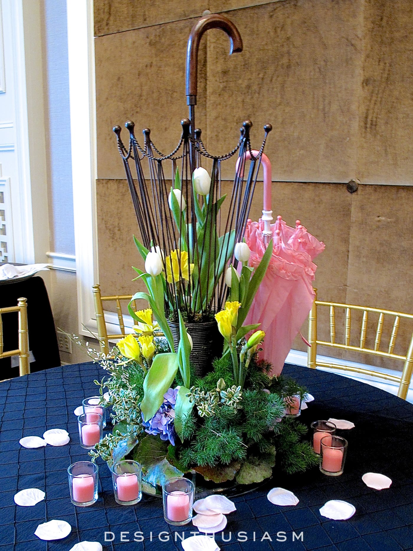 April in Paris Centerpieces - Designthusiasm.com
